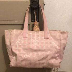 -CHANEL- Jacquard Travel Line Tote Bag
